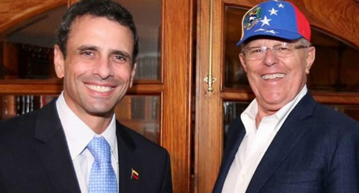 Capriles unió a PPK y el Congreso contra crisisvenezolana