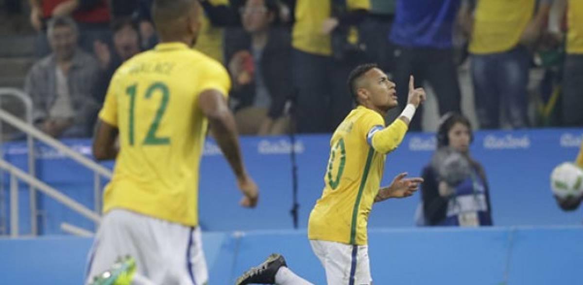 Río 2016: Brasil, con gol de Neymar, avanza aSemifinales