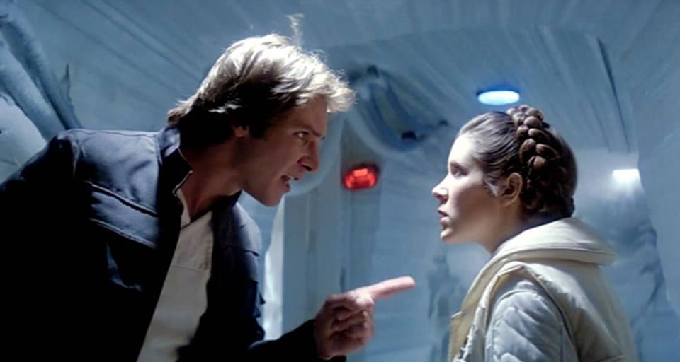 Star Wars: Las cosas se ponen feas entre Han Solo y la PrincesaLeia