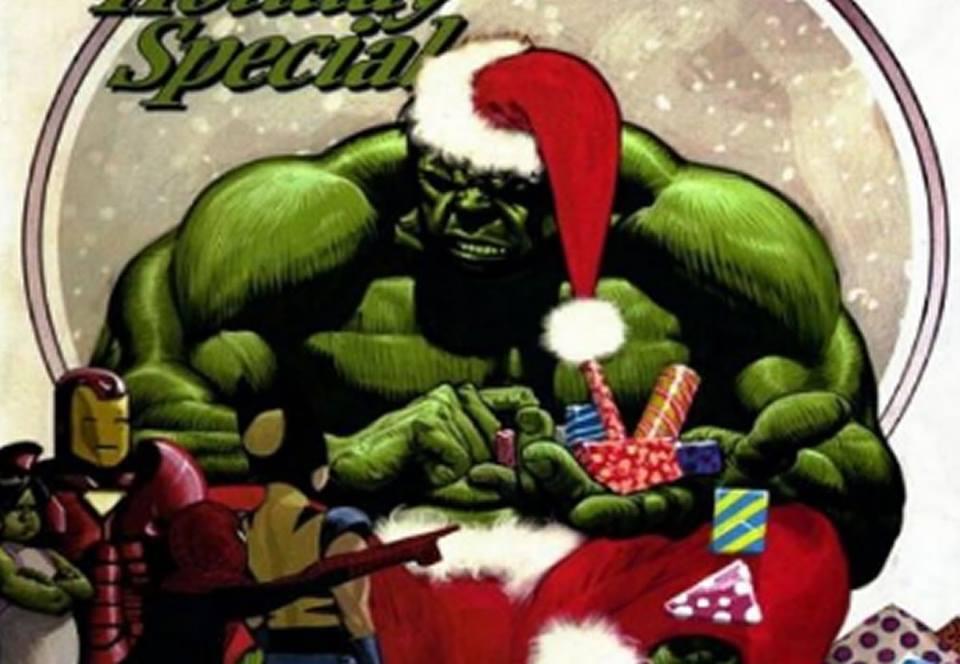 Héroes de DC Comics y Marvel celebran la Navidad (galería deportadas)