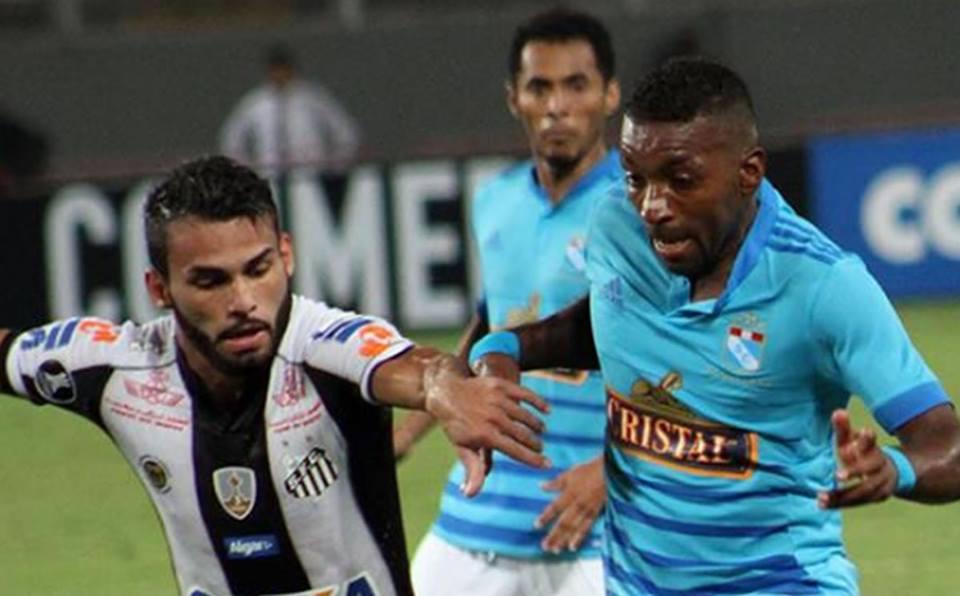 Sporting Cristal 1- Santos 1: Errores con marca del fútbolperuano
