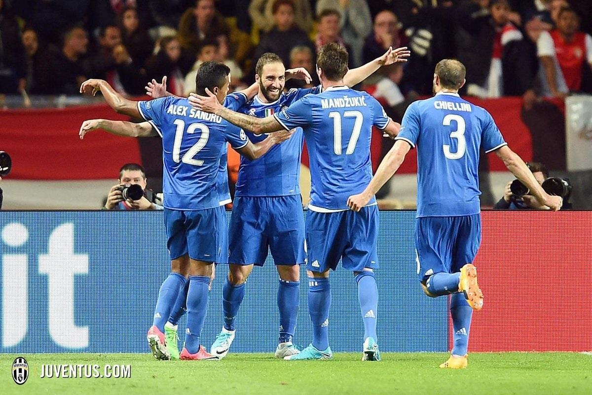Juventus venció de visita al Mónaco: Buffon, Dani Alves e Higuaín protagonistas deChampions