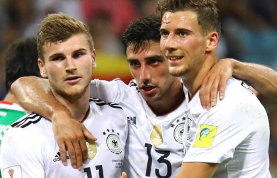 Copa Confederaciones: Alemania y Goretzka vencieron temprano aMéxico