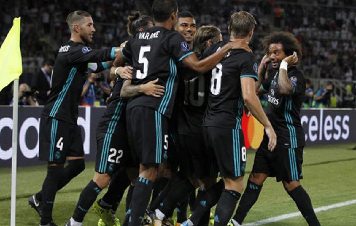 Supercopa de Europa: Real Madrid suma primer trofeo de temporada (ganó 2 a 1 alManchester)
