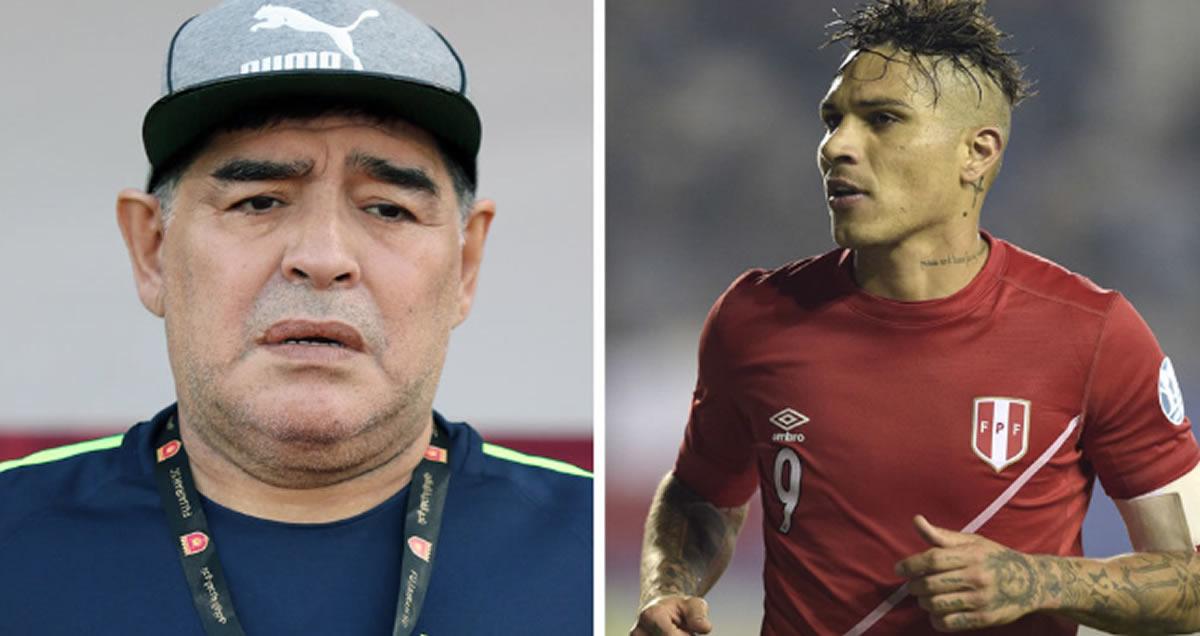Maradona quiso apoyar a Paolo Guerrero, pero lo trató comoadicto