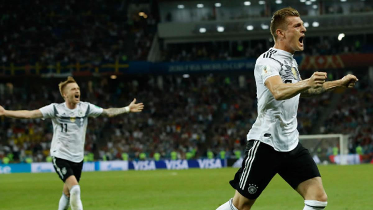 Kroos salva a Alemania, Bélgica vuelve a golear y México aganar