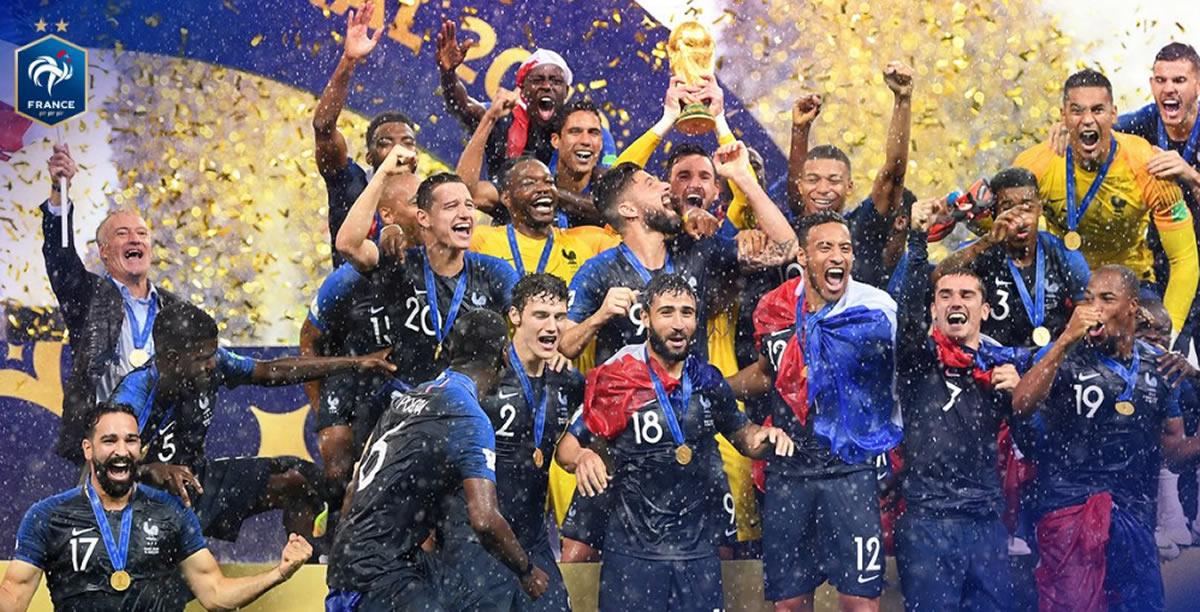 Francia campeona en Rusia 2018: Ganó 4 a 2 aCroacia