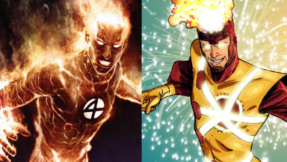 La Antorcha Humana, Firestorm y otros héroesflamígeros