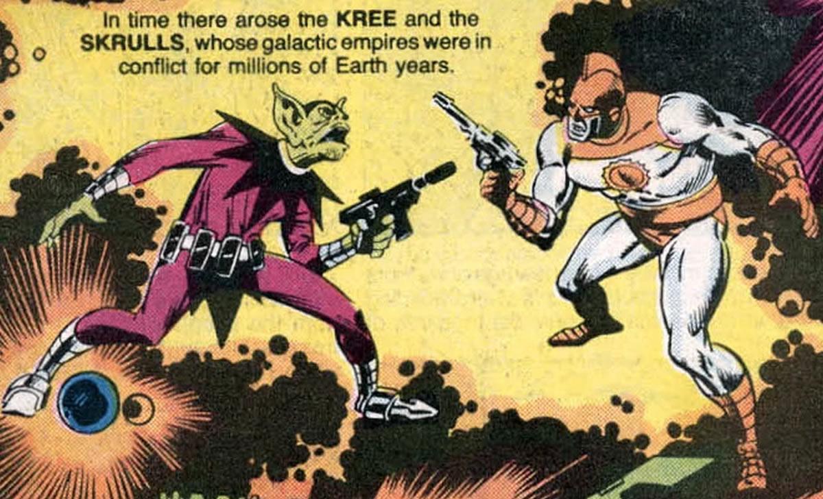 La guerra Skrull-Kree y otras confrontaciones estelares de loscómics