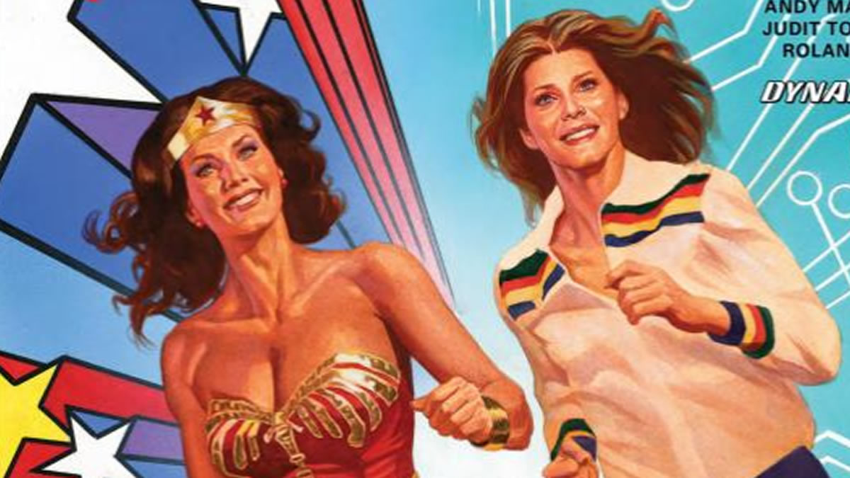 La Mujer Maravilla de la TV se conoció con la Mujer Biónica en loscómics